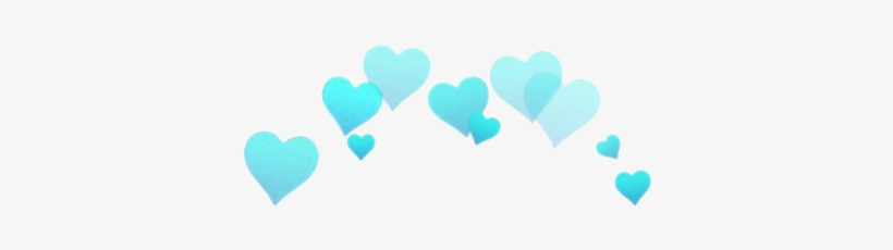 195 Images About Overlays/pngs✖ On We Heart It - Blue Hearts Over Head, transparent png #185216
