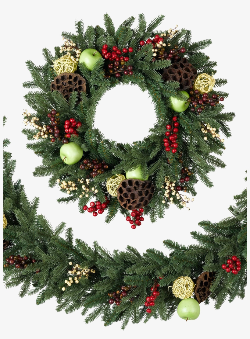 Christmas Wreath Transparent Png Png Download - Christmas Wreath Transparent Background, transparent png #185238