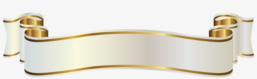 White Gold Ribbon Png, transparent png #185319
