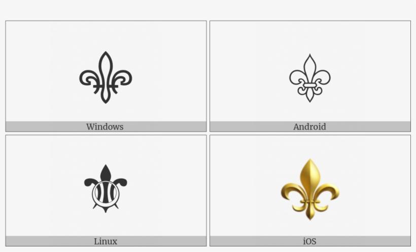 Fleur De Lis On Various Operating Systems - Fleur De Lis, transparent png #186588