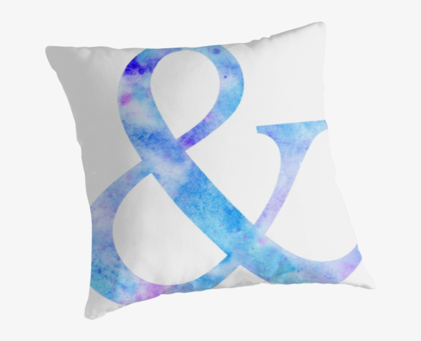 Watercolor Ampersand & Throw Pillow - Faze Clan, transparent png #186996