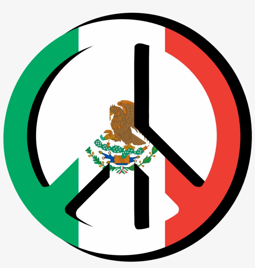 Mexican Flag Images Free Download Clip Art - Mexican Flag Peace Sign, transparent png #187757