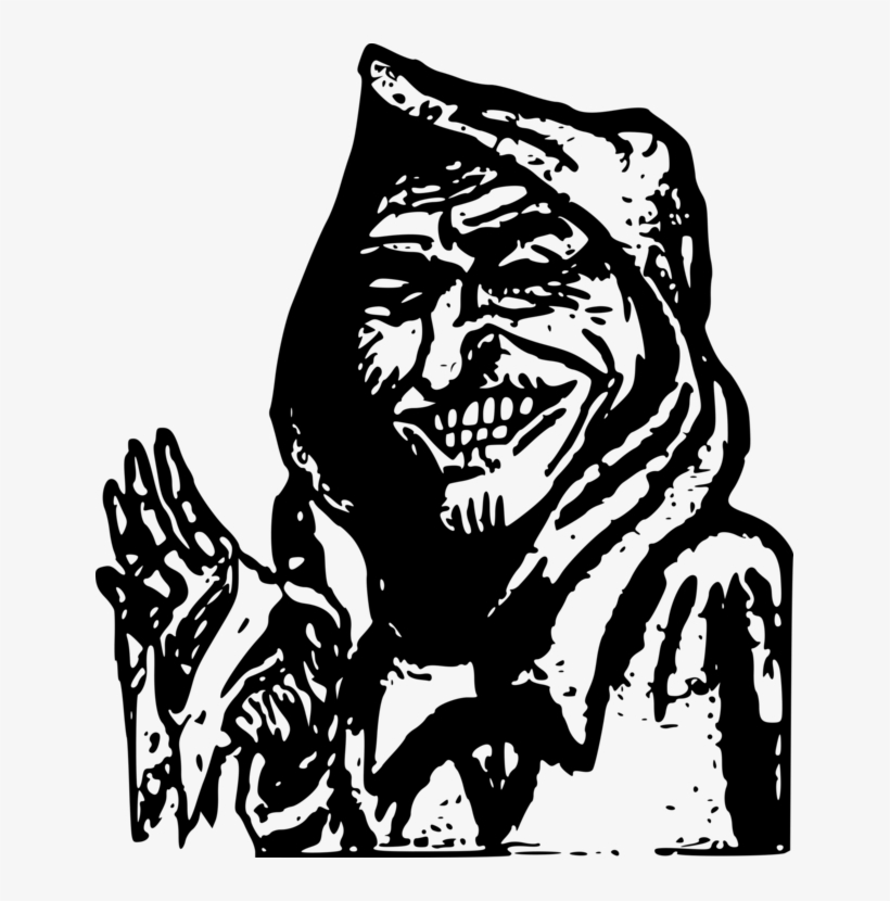 Computer Icons Drawing Man Devil Monster - Scary Old Man Clipart, transparent png #187875