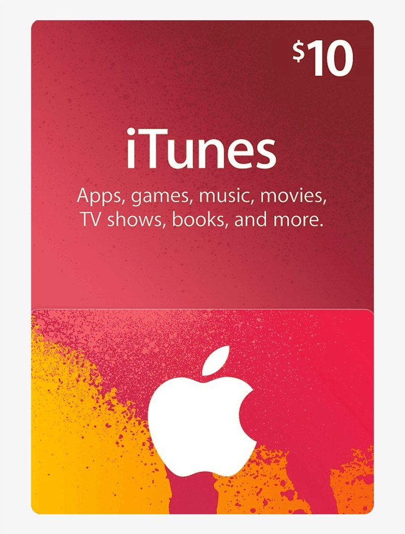 10 Itunes Gift Card Us - 10$ Apple Gift Card, transparent png #188589