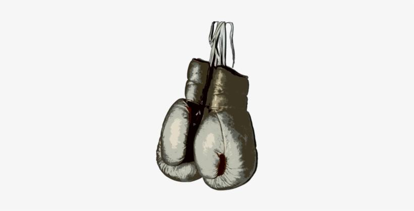 Boxing Gloves - Vintage Boxing Gloves Png, transparent png #188865