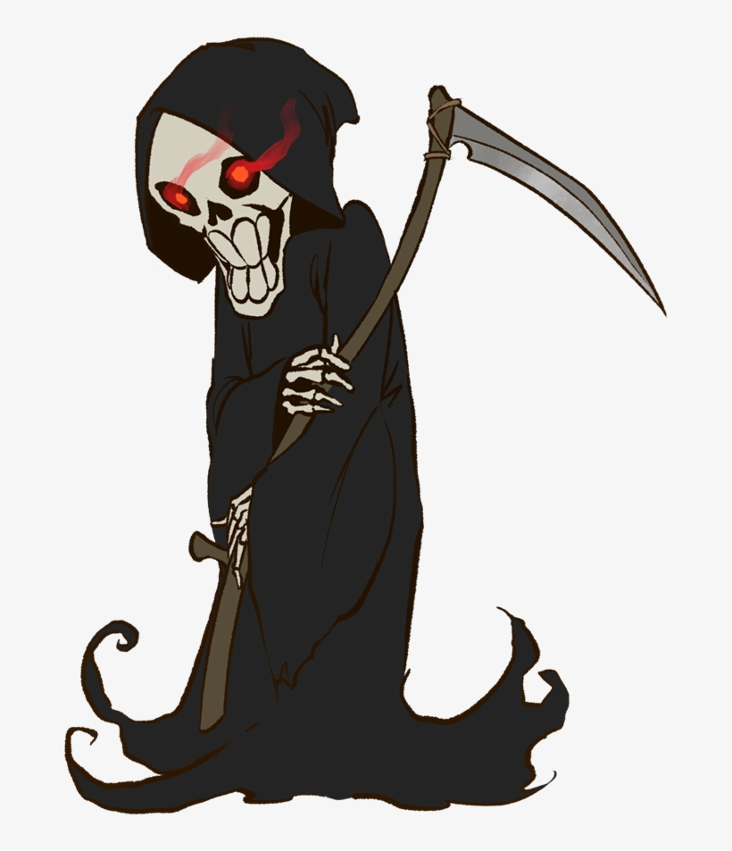 Graphic Free Free Collection Download And Share Drawn - Halloween Grim Reaper Cartoon, transparent png #189273