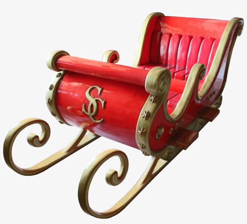 Santa Sleigh - Real Santa Sleigh, transparent png #1801172