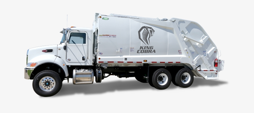 Left Side View Of A New Way King Cobra Rear Loader - Garbage Truck Png Side View, transparent png #1801204
