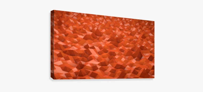 Abstract Low Poly Low Poly Orange Background Canvas - Applied Methodologies In Polymer Research And Technology, transparent png #1801593