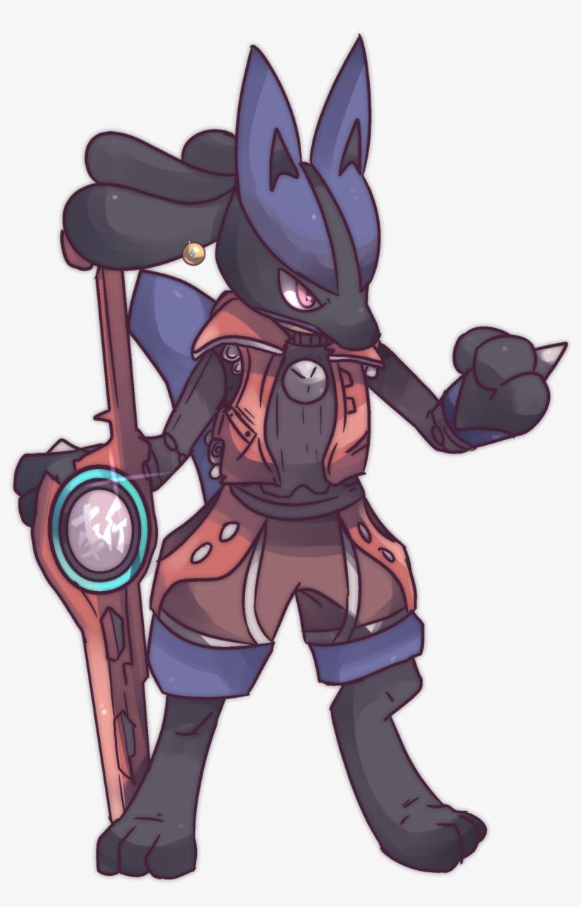 Pokémon X Xenoblade Custom Shulk-clad Lucario 157th - Shulk And Lucario, transparent png #1801999