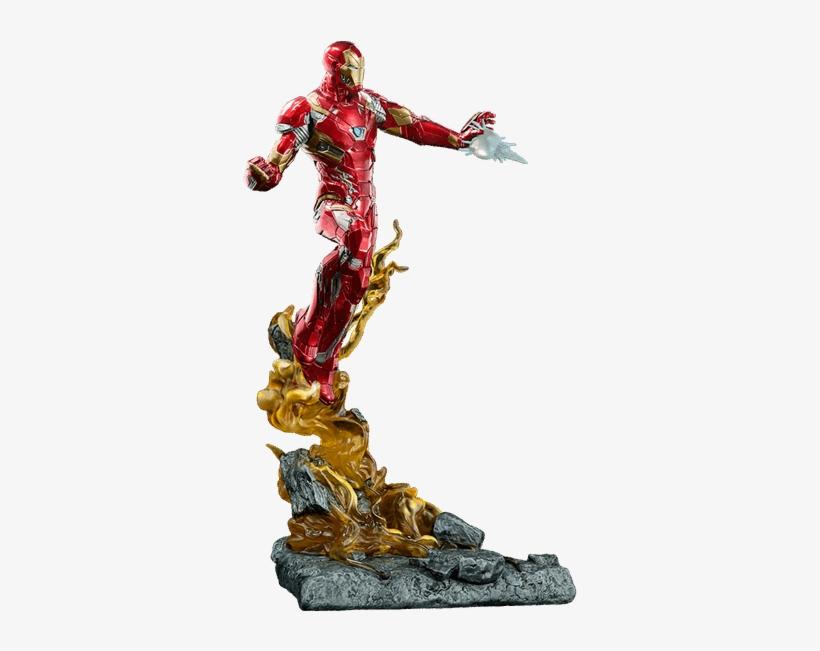 Civil War - Iron Man Civil War Statue, transparent png #1802802