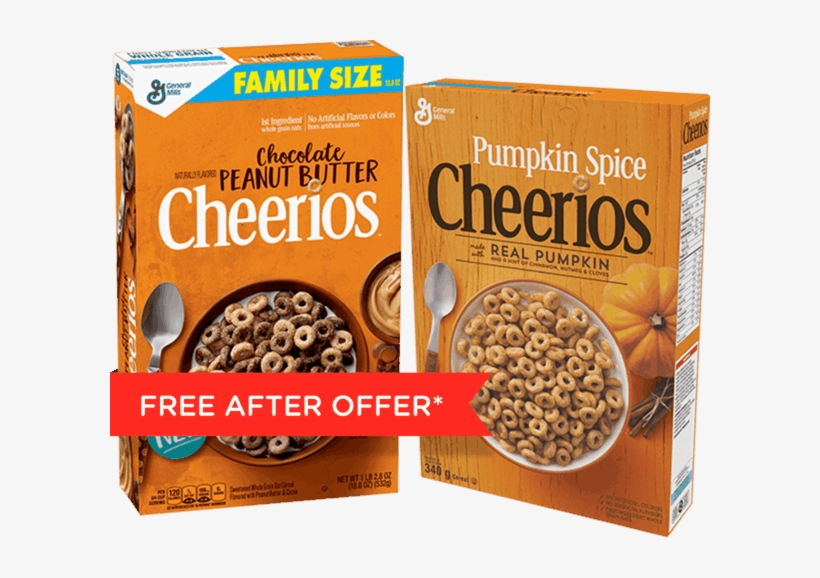 00 For Chocolate Peanut Butter And Pumpkin Spice Cheerios™ - Chocolate Peanut Butter Cheerios Cereal 18.8 Oz. Box, transparent png #1802832