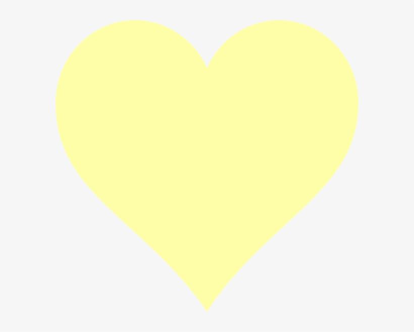 Yellow Heart Clip Art At Clker - Light Yellow Heart, transparent png #1804366