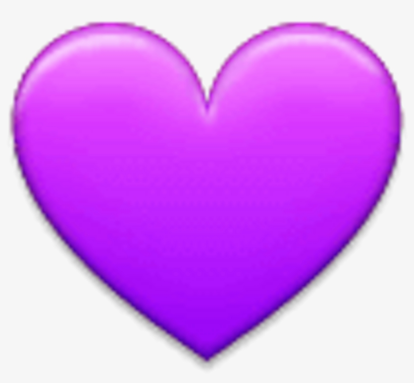 Purple Heart On Apple Ios - Samsung Hearts Emoji, transparent png #1804655