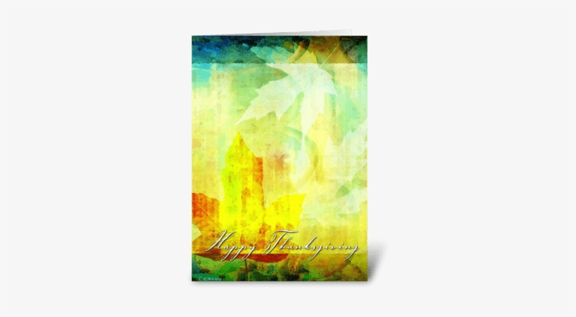 Abstract Leafs Thanksgiving Card Greeting Card - Thanksgiving Leaf Collage- Card, transparent png #1806146