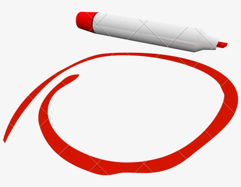 Red Pen Circle Png Royalty Free - Red Circle Pen Png, transparent png #1806869