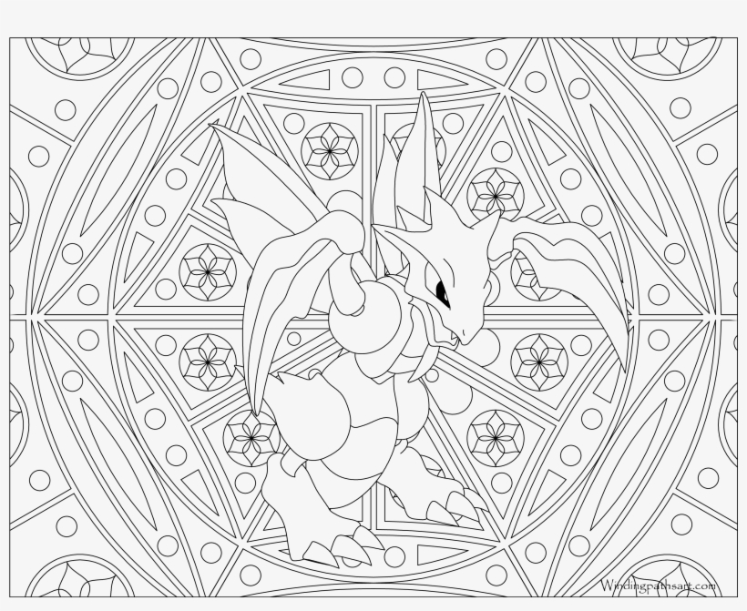 #123 Scyther Pokemon Coloring Page - Adult Coloring Pages Pokemon, transparent png #1807581