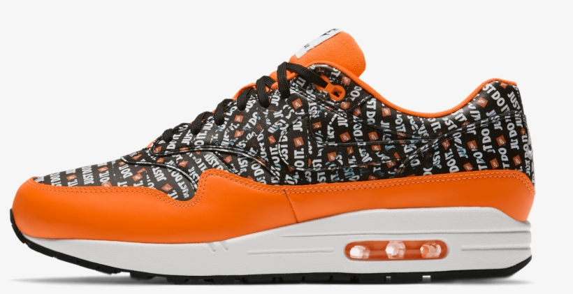 new arrivals 7e000 1e4a7 Air Max 1 Prm Just Do It Black   Total Orange   White - Shoe,