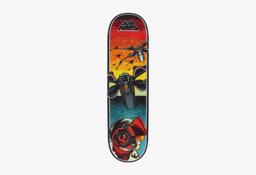 Santa Cruz Star Wars Episode Vii Poe Dameron Skateboard - Star Wars Skateboard Deck 8.5, transparent png #1810106
