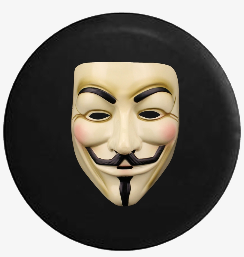 Anonymous Mask Guy Fawkes Revolution Jeep Camper Spare - Guy Fawkes, transparent png #1810200