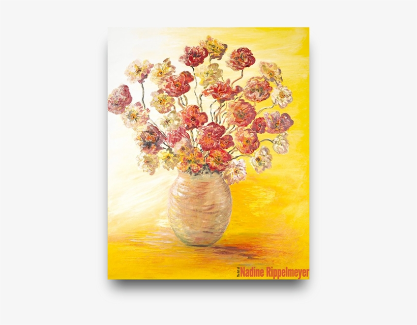 Colorful Tulips For Sale - Flowers In A Vase Painting, transparent png #1811018