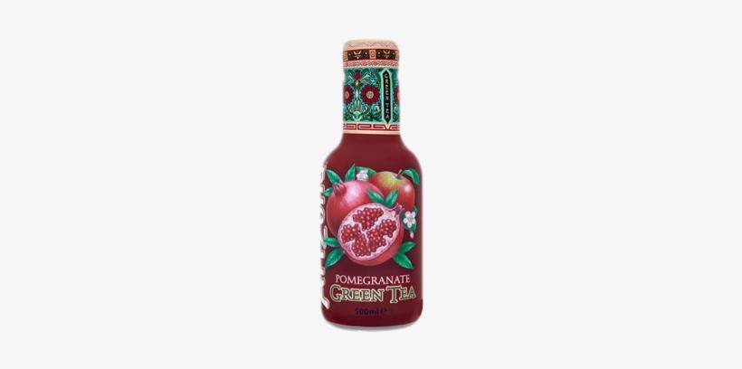 Arizona Green Tea & Pomegranate - Arizona Pomegranate Green Tea (500ml), transparent png #1811601