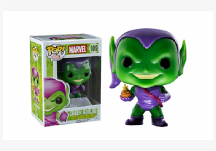 Crazy Price New Pop Vinyl Marvel Spider Man Green Goblin - Funko Pop! Marvel Green Goblin 109 Exclusive Bobble, transparent png #1812421