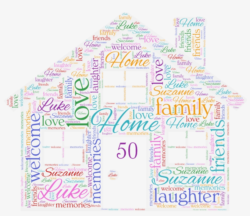1 Sur 4 Personalised Word Art New Home Family House - Posterazzi Heart Is Poster Print By Jace Grey (12 X, transparent png #1815131