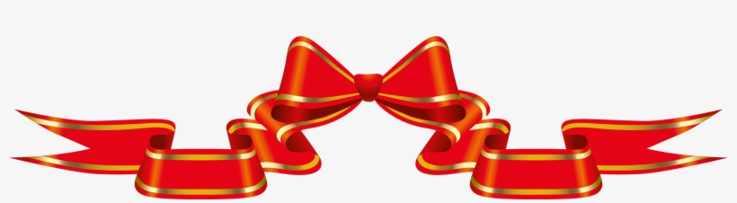 Red Banner With Bow Png Clipart Picture - Bow Ribbon Banner Clipart, transparent png #1819039