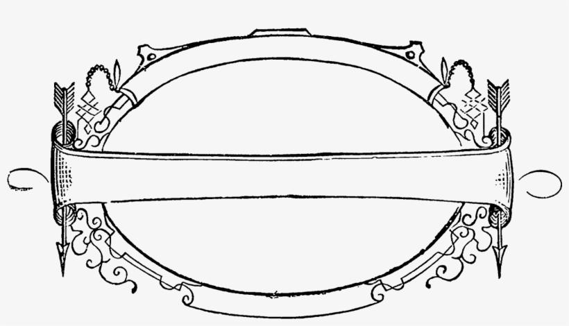Label Frame Oval Arrows Swirls Design Image Digital - Picture Frame, transparent png #1820656