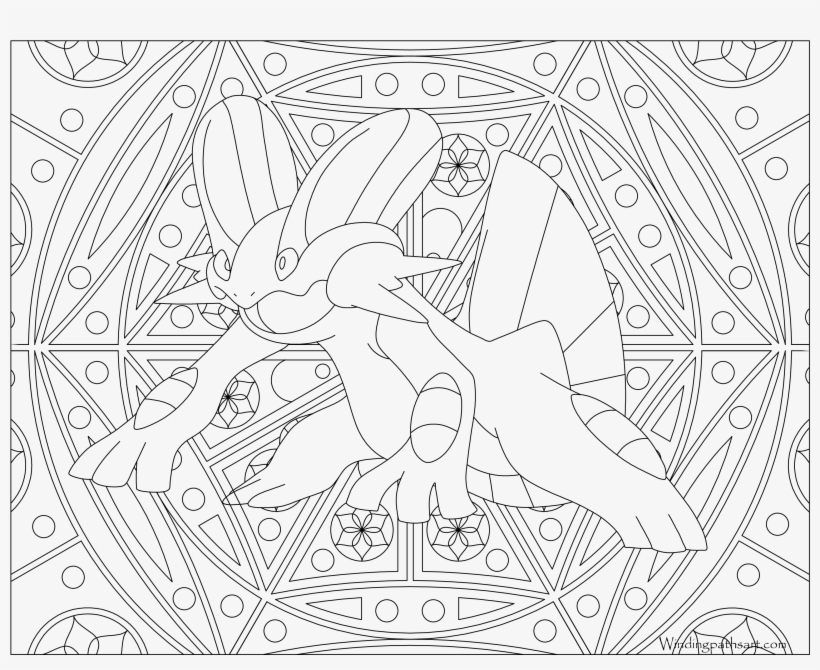 #260 Swampert Pokemon Coloring Page - Pokemon Adult Coloring Pages, transparent png #1821289