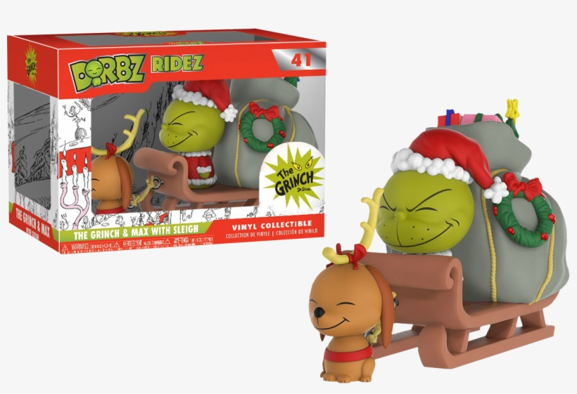 The Grinch And Max On Sled Dorbz Ridez Vinyl Figure - Funko Pop The Grinch, transparent png #1821992