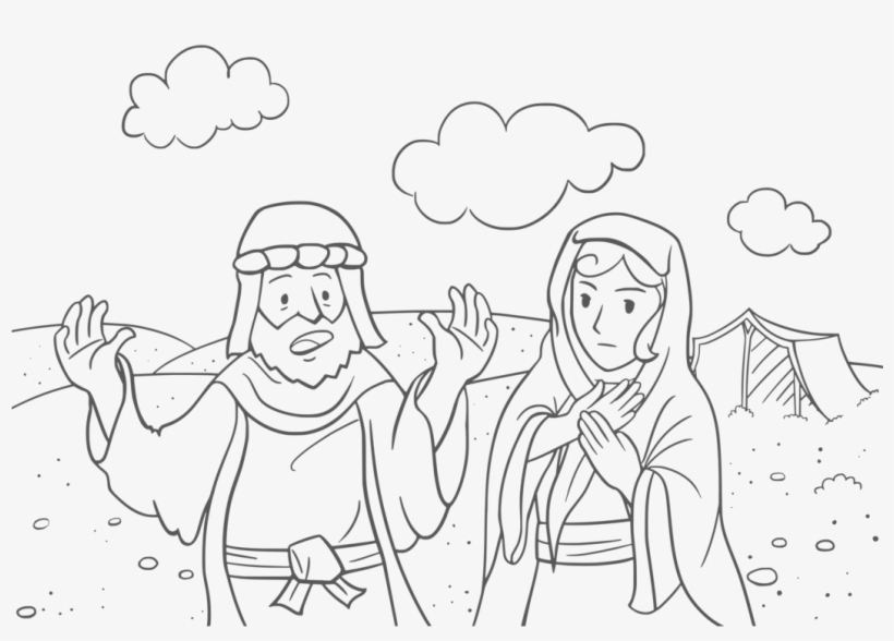 Abraham and Isaac Coloring Page | 588x820