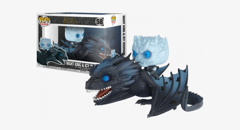 Game Of Thrones Pop Rides Night King On Dragon - Funko Pop Night King And Viserion, transparent png #1823906