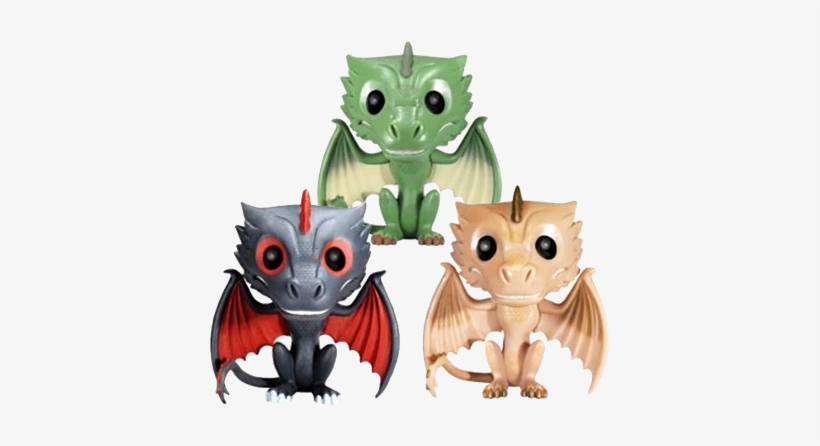 Game Of Thrones Drogon, Rhaegal & Viserion Icon - Game Of Thrones Rhaegal Exclusive Pop! Vinyl Figure, transparent png #1824610