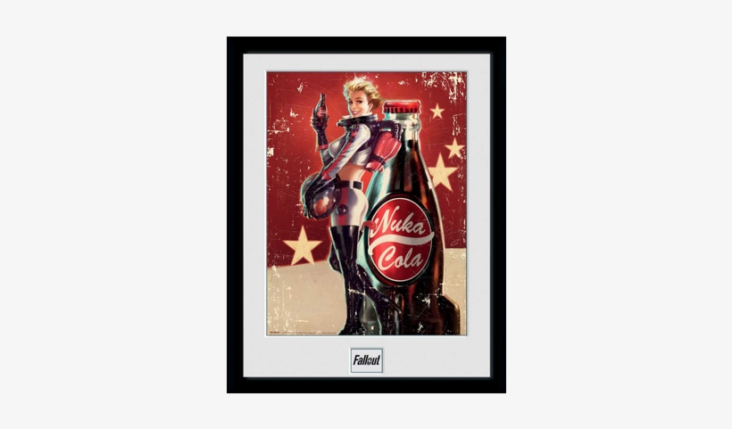 Fallout Framed Poster Nuka Cola 45 X 34 Cm - Fallout Nuka Cola Girl Poster, transparent png #1824800