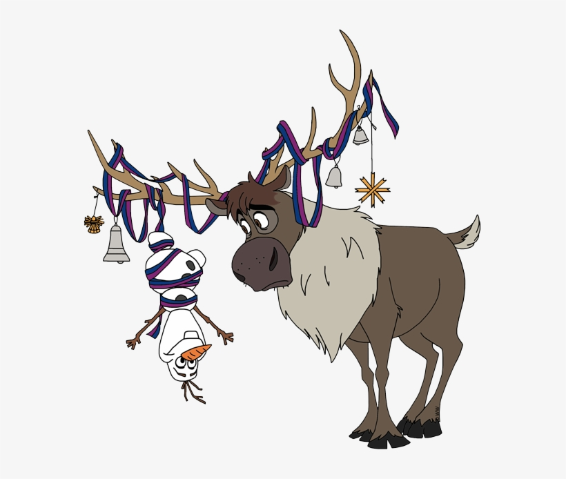 Olaf At Christmas Sven Frozen Clip Art Free Transparent Png