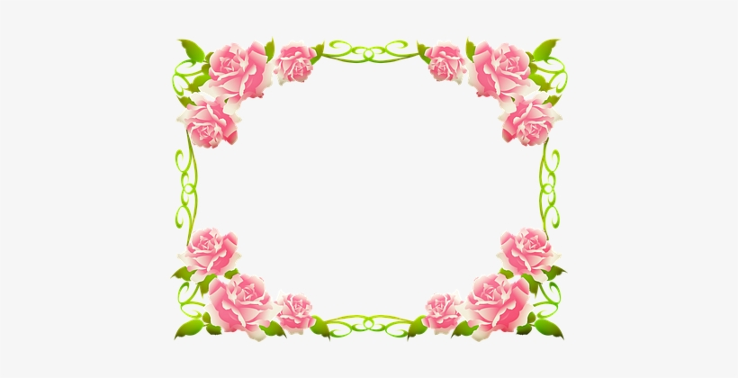 Rose Frame Roses Leaves Frame Love Page Border Design