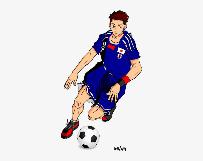 Ryota X Japan Team By Saki Strife - Soccer Ball Women's V-neck T-shirt, transparent png #1827535