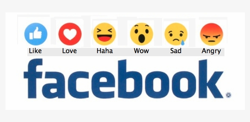 Facebook Reaction Buttons - Us On Facebook, transparent png #1828820
