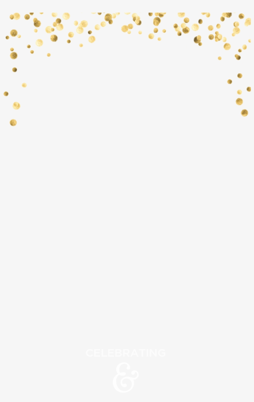 Gold Confetti - Snapchat Geofilter Template Free - Free