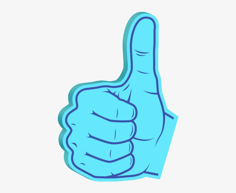 Foam Hands Emoji Sticker Pack Messages Sticker-1 - Sticker, transparent png #1831166