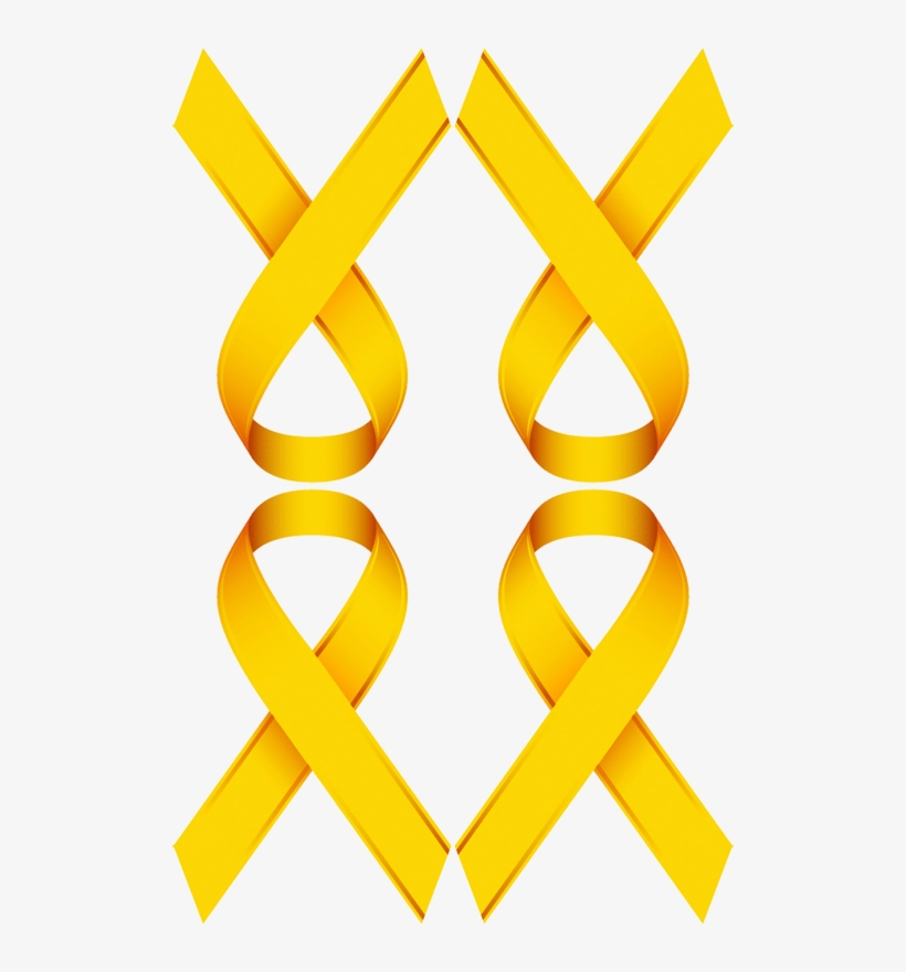 Gold Ribbon For Childhood Cancer Awareness Wallpaper Yellow Cancer Ribbon Background Free Transparent Png Download Pngkey