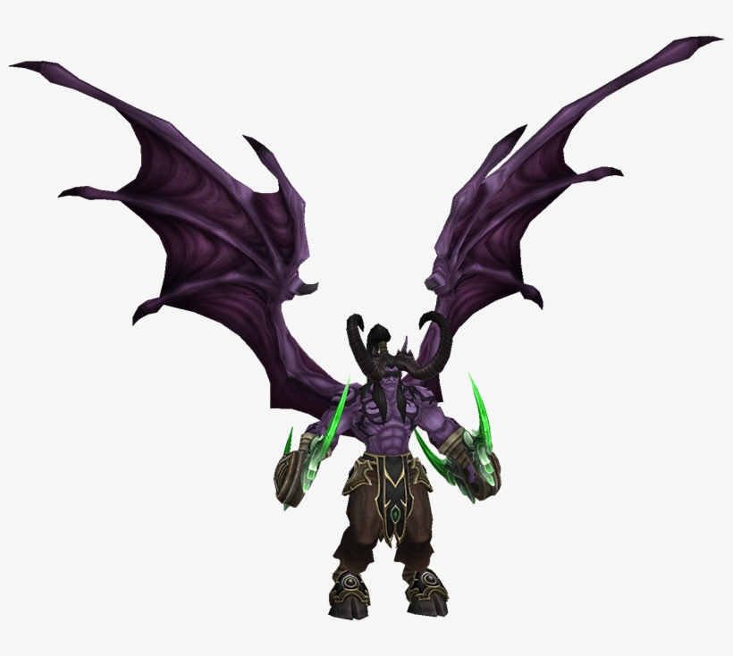 It Has No Animations - Heroes Of The Storm Illidan Demon, transparent png #1831573