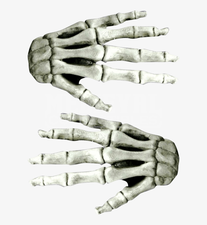 Large White Skeleton Costume Hands - Horror White Latex Skeleton Hands, transparent png #1833064