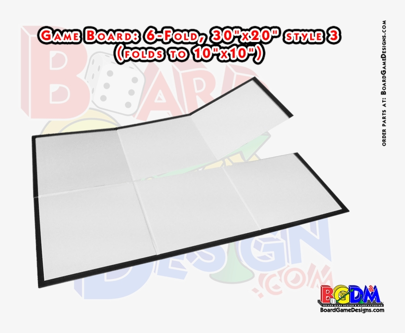 Blank Game Boards, Boardgame Blanks, 6 Fold, Six Fold - Quad Fold Board Game, transparent png #1833651