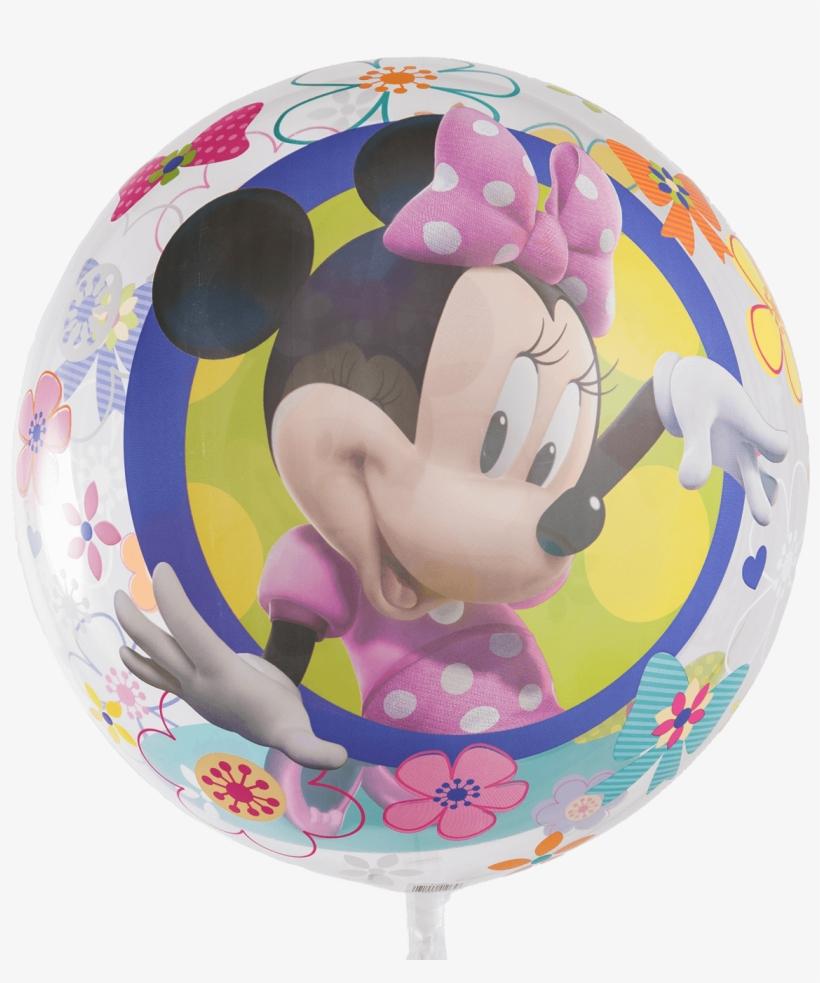 Disney Minnie Mouse Bow-tique Bubble Balloon - Disney Minnie Mouse Pink Dessert Plate Set, transparent png #1834332