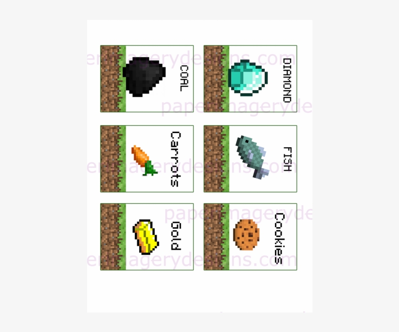 Minecraft Theme Party Decor - Minecraft Coal Printable