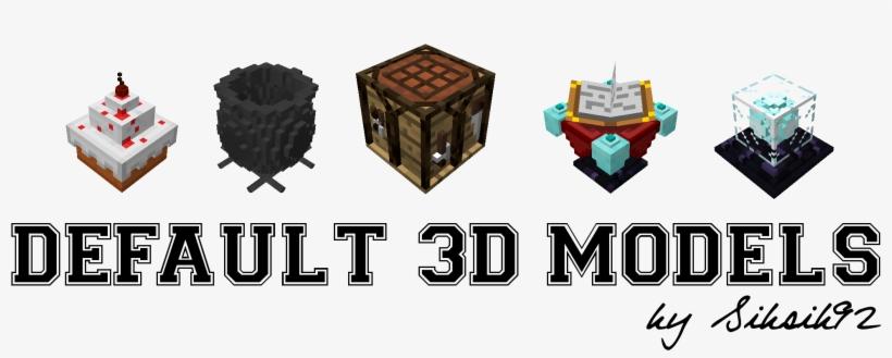 Minecraft 3d Resource Pack 1.13, transparent png #1834529