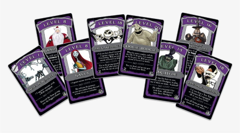 Armor And Weapons Cards To Be The Scariest Skeleton - Nightmare Before Christmas Monopoly Cards, transparent png #1835129